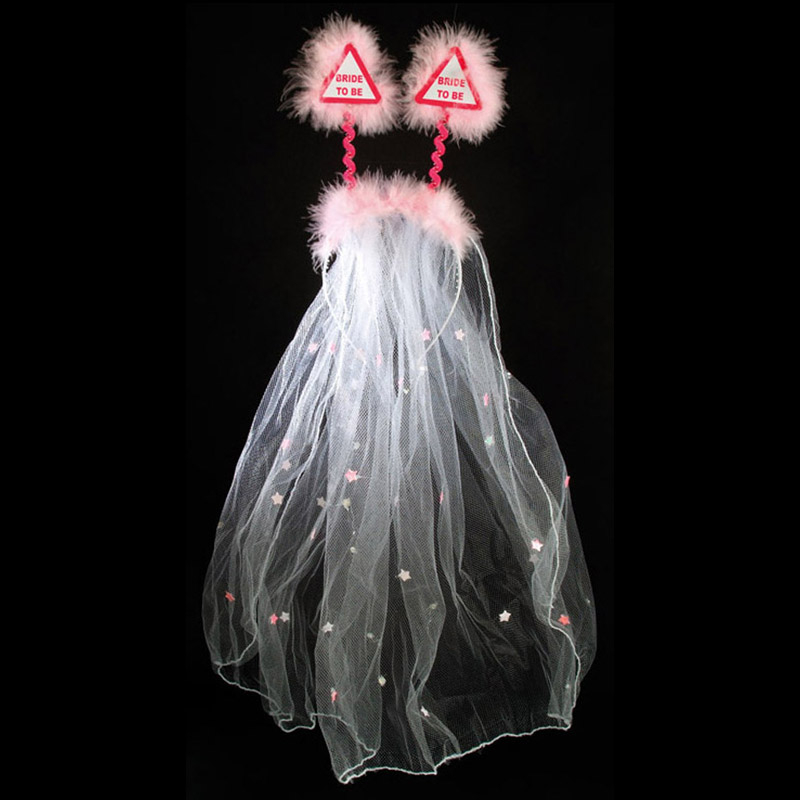 Bride to Be Bopper with Veil