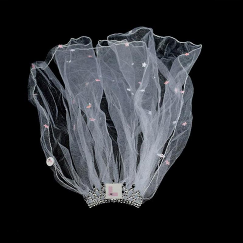 Flashing Bride to Be L PLATE VEIL /& Tiara Hen Night Party Ladies Accessories