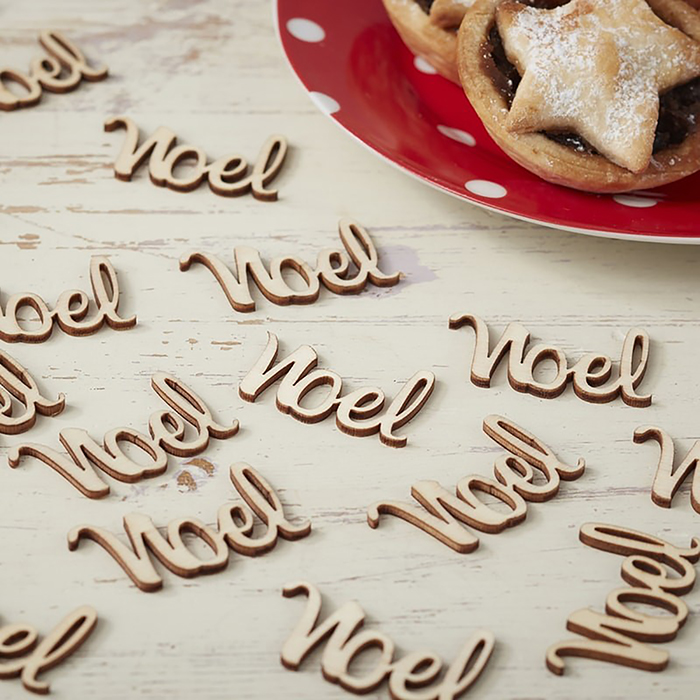 Noel Wooden Table Confetti