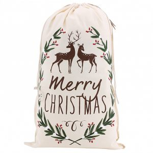 Merry Christmas Canvas Sack