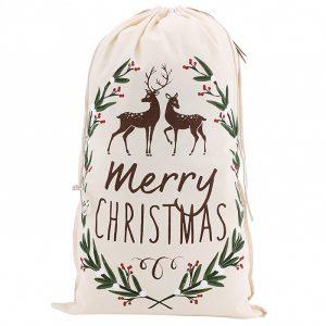 Merry Christmas Canvas Sack