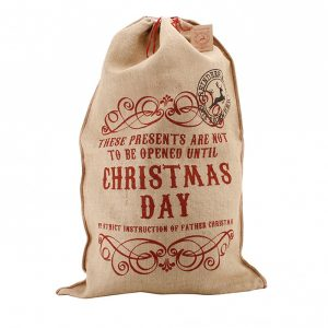 Not to be opened Hessian Christmas Sack