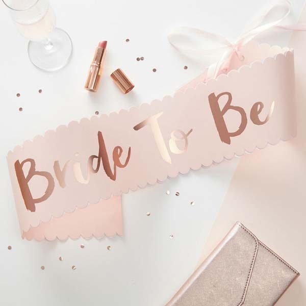 Team Bride Bride to Be Sash