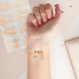 Team Bride Temporary Tattoos