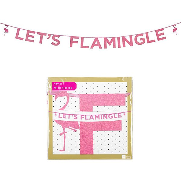 Lets Flamingle Hen Night Banner