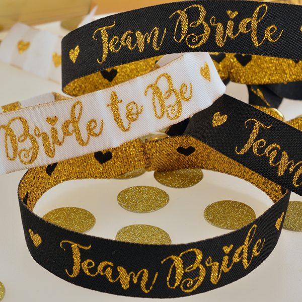 Team Bride Fabric Wristbands