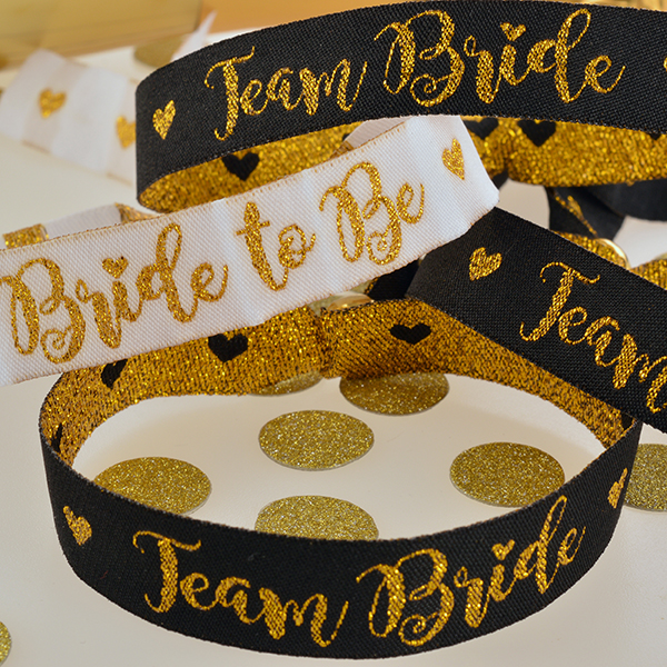 Team Bride Fabric Wristbands