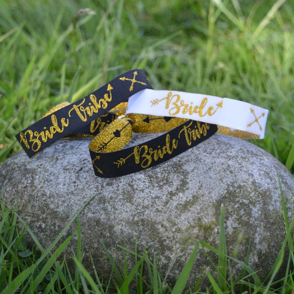 Bride Tribe Fabric Wristbands