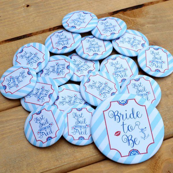 Sailor Hen Party Badges
