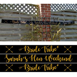 Bride Tribe Hen Party Banner