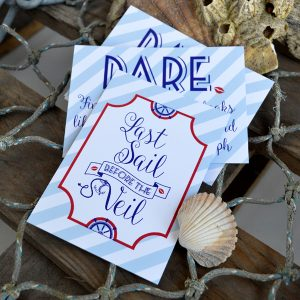 Sailor Hen Party Dare Cards