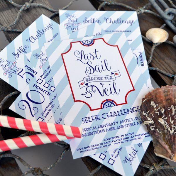 Sailor Hen Party Selfie Challenge Cards