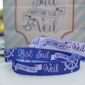 Sailor Hen Party Fabric Wristbands