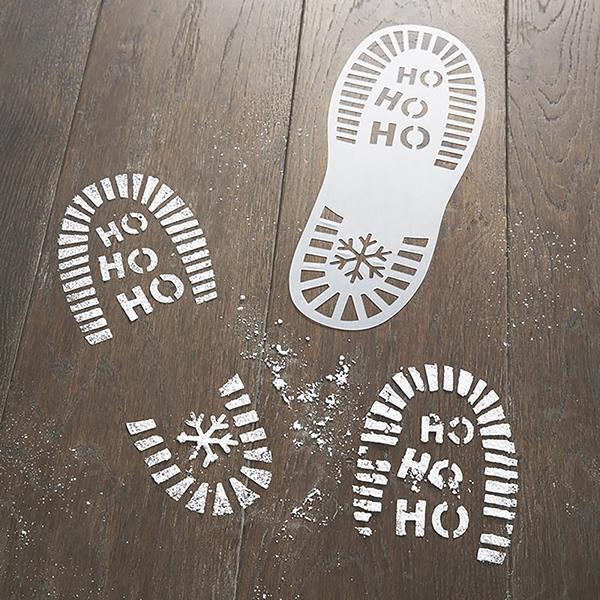 Santa Footprint Stencils