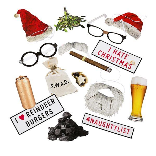 Bad Santa Christmas Photo Booth Props