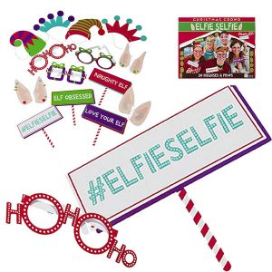 Elfie Selfie Christmas Photo Props