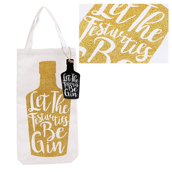 Gin Christmas Gift Bottle Bag