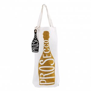 Prosecco Gold Sparkly Bottle Bag