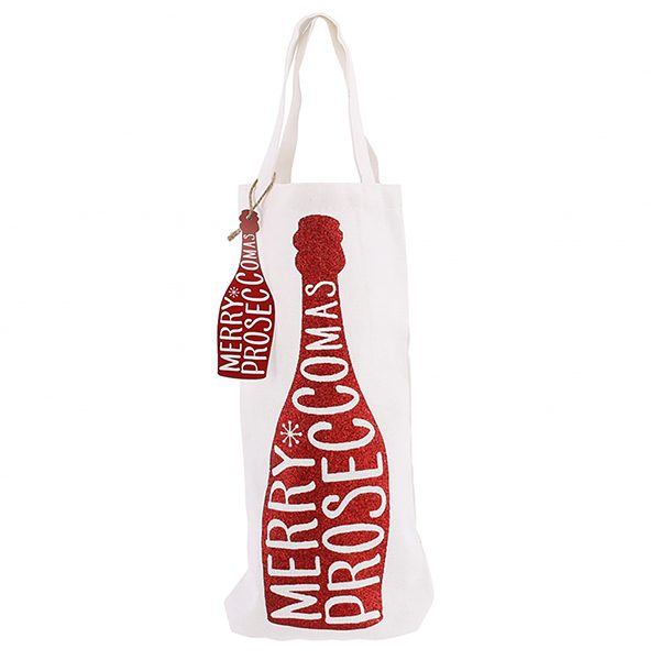 Merry Proseccomas Red Bottle Bag