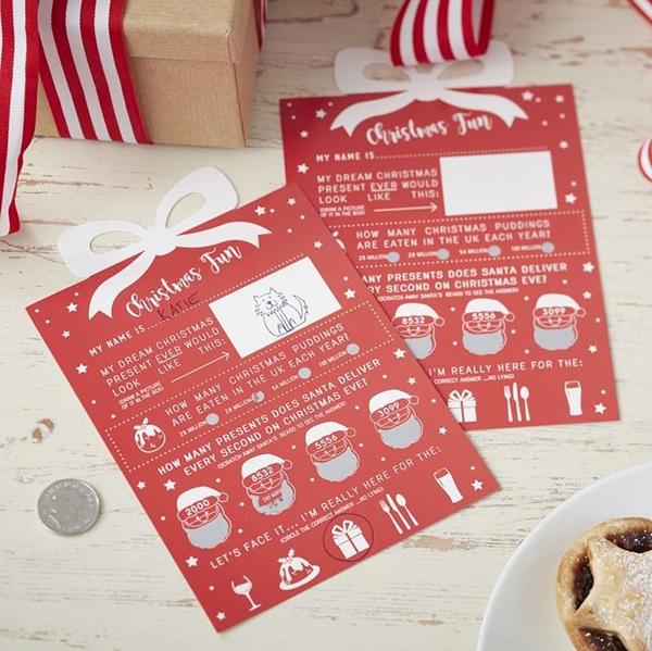 Christmas Scratch Cards