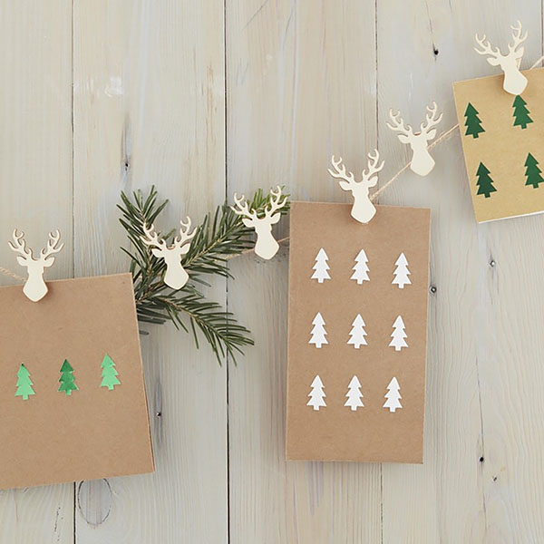 Stag Christmas Card Holder
