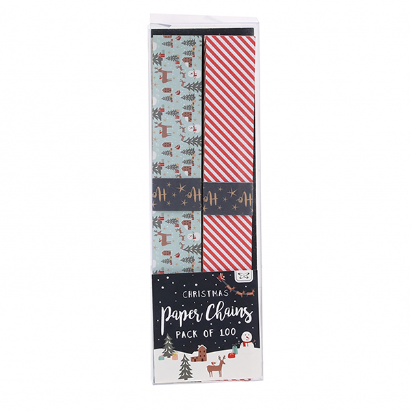 Woodland Stripe Christmas Paper Chain