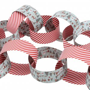 Woodland Stripe Christmas Paper Chain