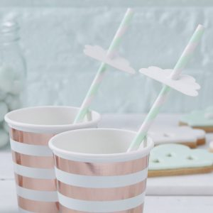 Hello World Baby Shower Straws