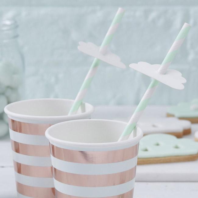 Hello World Baby Shower Straws