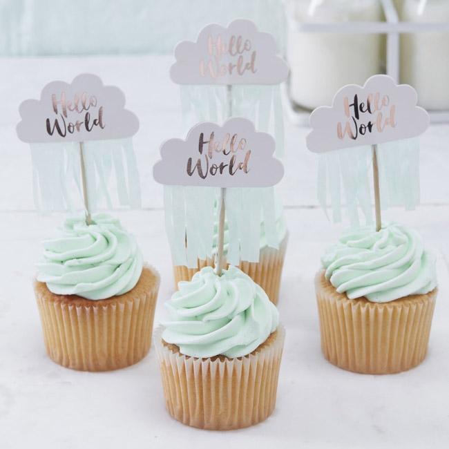 Hello World Cupcake Picks