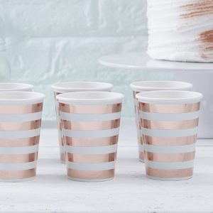 Mint & Rose Gold Cups