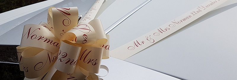 Printed Wedding Car Ribbon Kit