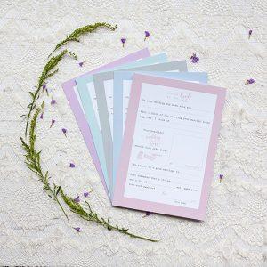 Pastel Bride Tribe Advice Cards