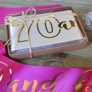 Birthday Sash with Giftbox