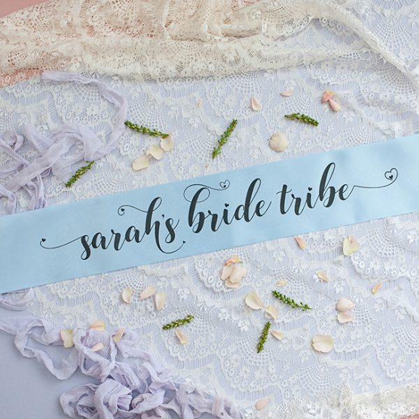 Blue Pastel Bride Tribe Hen Party Banner