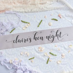 Grey Pastel Bride Tribe Hen Party Banner