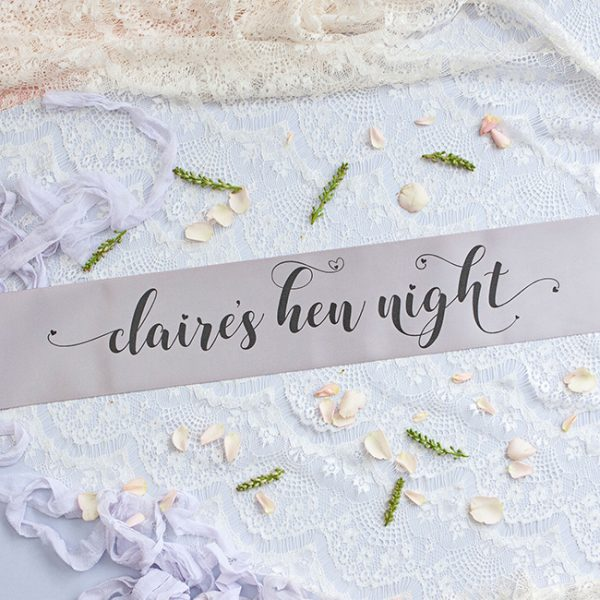 Grey Pastel Bride Tribe Hen Party Banner
