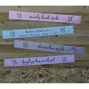 Pastel Bride Tribe Hen Party Banner