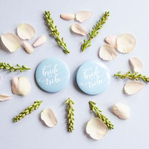 Blue Bride Tribe Badges