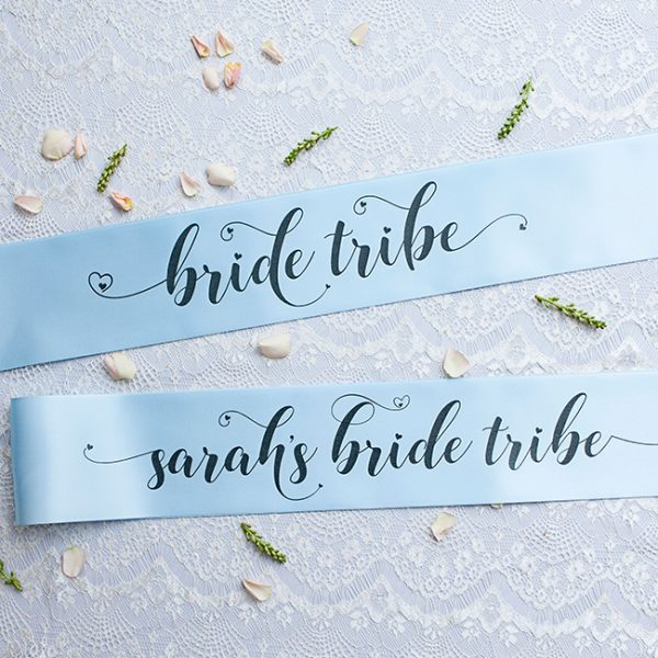 Bride Tribe and Personalised Sashes