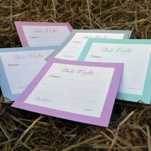 Pastel Bride Tribe Date Night Cards