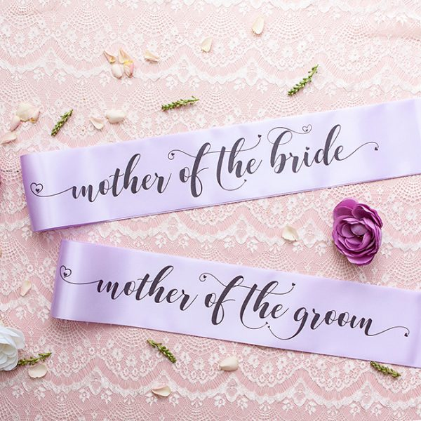 Mother of the Bride and Mother of the Groom Sashes