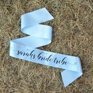Personalised Pastel Bride Tribe Hen Party Sash