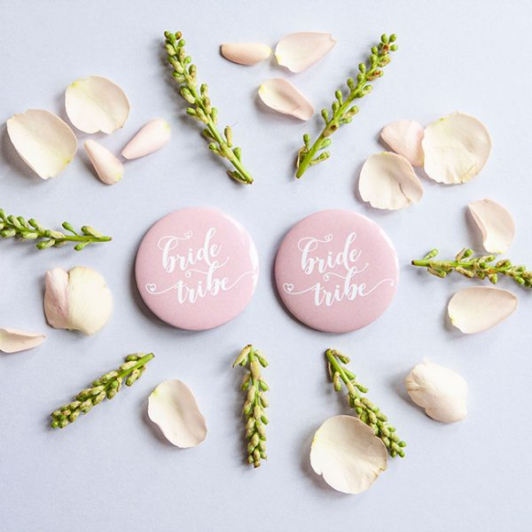 Pink Bride Tribe Badges
