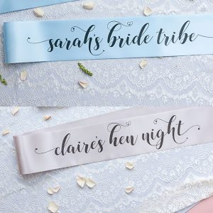 Personalised Pastel Bride Tribe Sashes