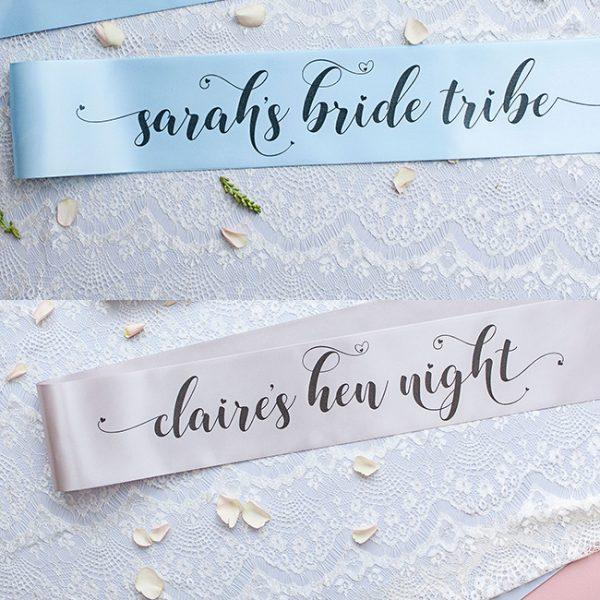 Personalised Pastel Bride Tribe Sashes