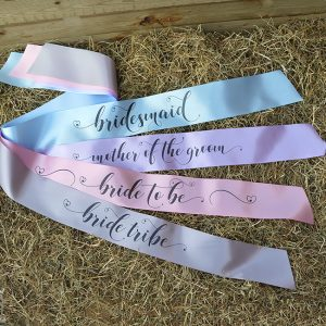 Pastel Bride Tribe Hen Party Sashes