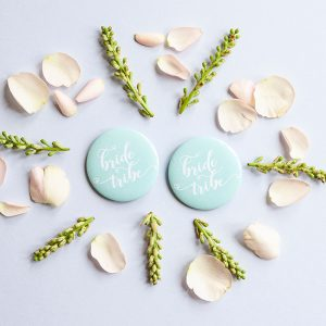 Turquoise Bride Tribe Badges