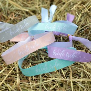 Pastel Bride Tribe Hen Party Wristbands