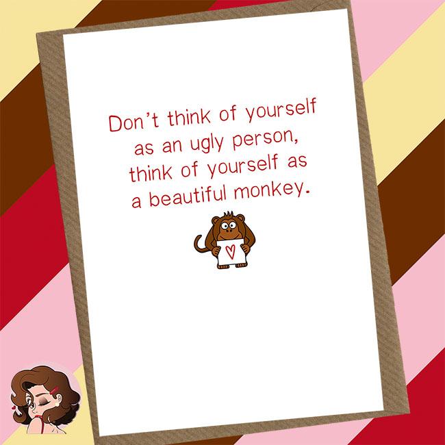 Beautiful Monkey Greetings Cards